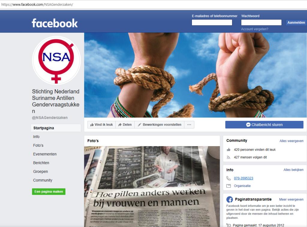 Stichting Nederland Suriname Antillen Gendervraagstukken, NSA.