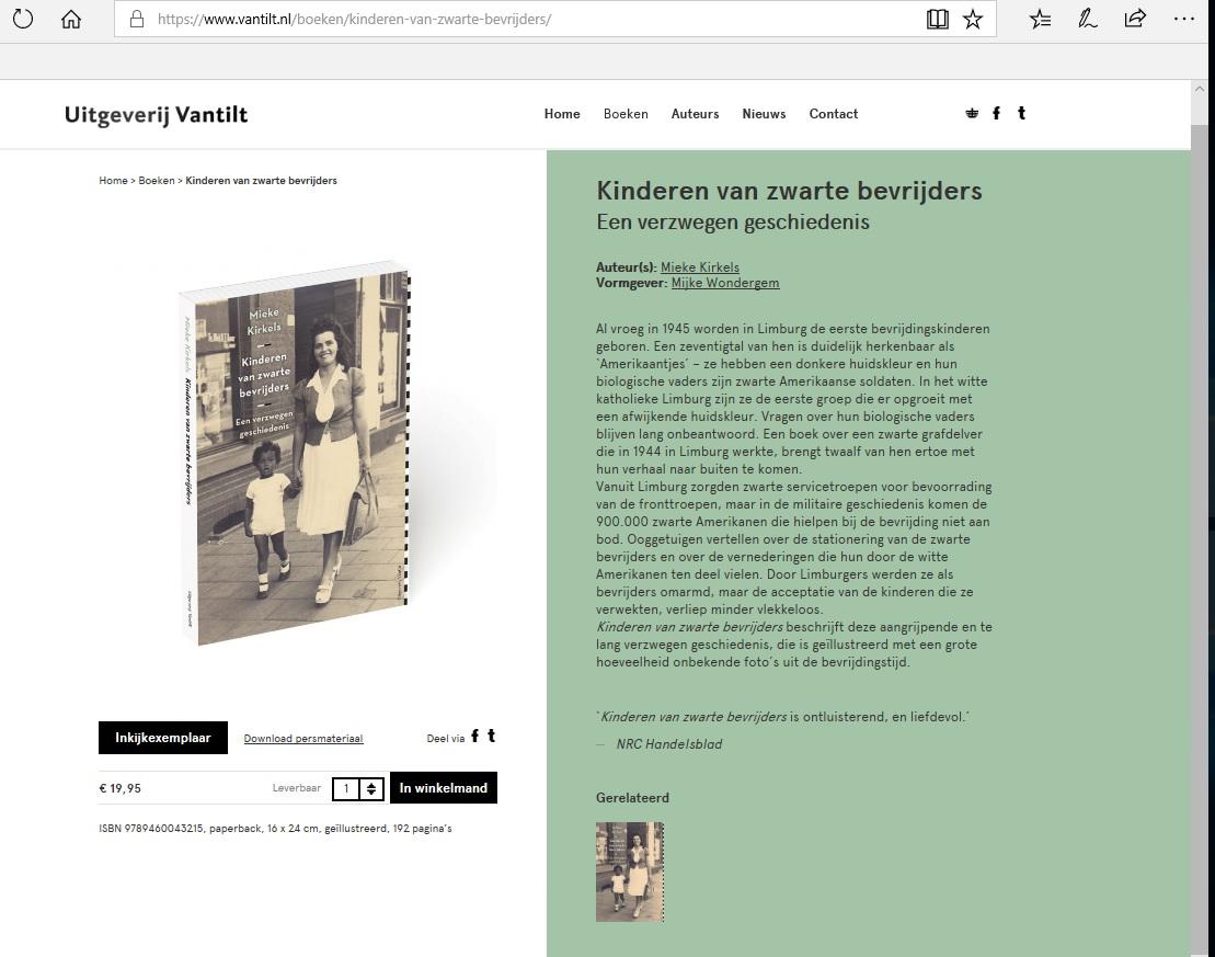 Mieke Kirkels Kinderen van Zwarte Bevrijders